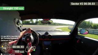 Porsche Cayman R Circuit Park Zandvoort 2:04.94 Hotlap Onboard